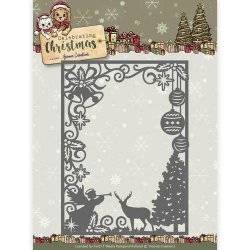 Yvonne Creations Dies Christmas Scene Rectangle Frame