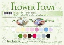 LeCrea Flower foam A4 Forest green 10 ark