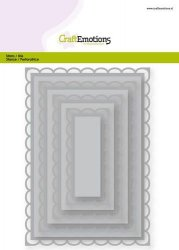 CraftEmotions dies Big Nesting Die rectangles scalop XL open card