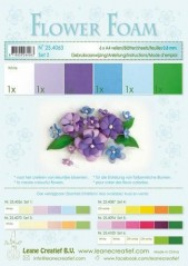 LeCrea Flower foam A4 blue-violet 6 ark