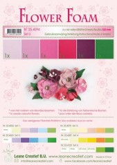 LeCrea Flower foam A4 Red pink 6 ark