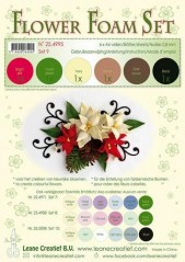 LeCrea Flower foam A4 brown-red-green 6 ark