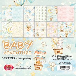 Craft&You Baby Adventure pappersblock 6x6