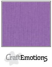 CraftEmotions Linen Cardboard purple 10 st