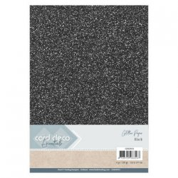 Card Deco Essentials Glitter Paper Black
