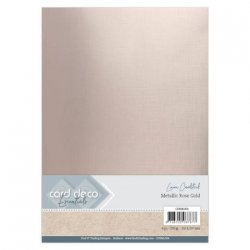 Card Deco Essentials Metallic Rose Gold