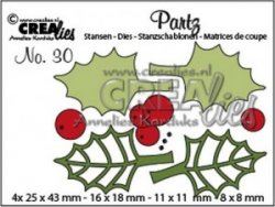 Crealies Partz no. 30 holly leaves and berries