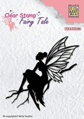 Nellie Snellen Clear stamp silhouette Fairy Tale-6