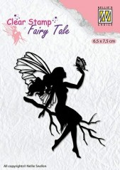 Nellie Snellen Clear stamp silhouette Fairy Tale-9