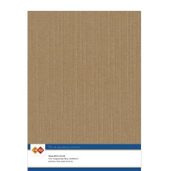 Cardstock med linne struktur Coffee brown 10 ark A4