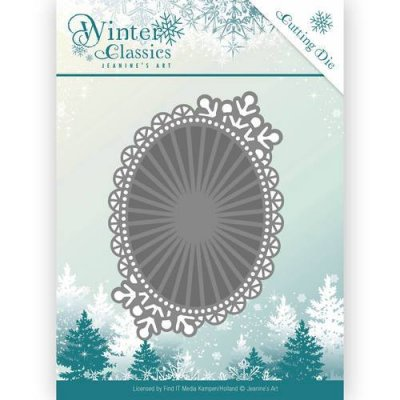 Jeanines Art dies Winter Classics Mirror Oval