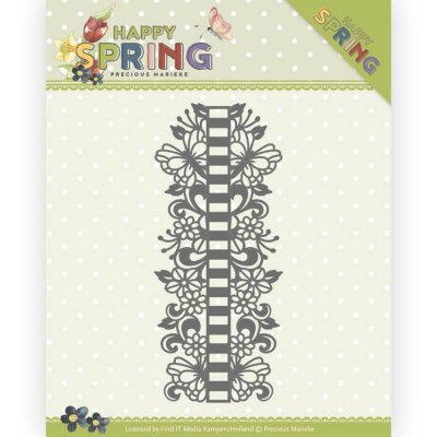 Precious Marieke Dies Happy Spring Happy Ribbon Borders