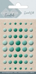 Card Deco Essentials - Enamel Dots green