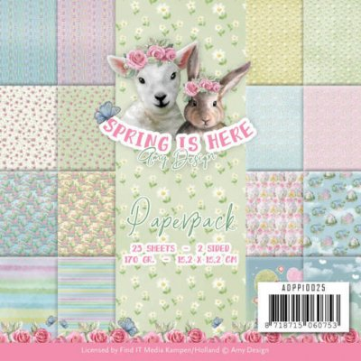 Amy Design Pappersblock Spring is Here