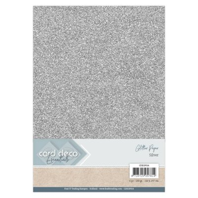 Card Deco Essentials Glitter Paper Silver