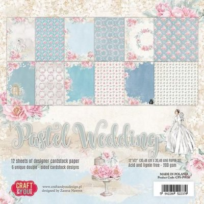 Craft&You Pastel Wedding Big Paper Set 12x12