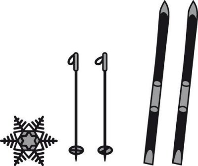 Craftable Skis and Snowflake