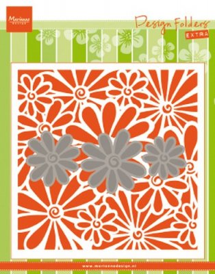 Marianne Design Embossing folder Extra Daisies