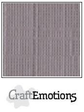 CraftEmotions Linen Cardboard Silver 10 st