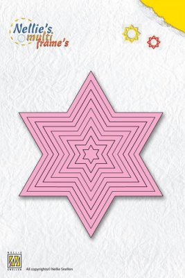 Nellies Multi Frame Die Straight Star