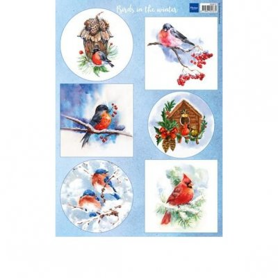 Marianne Design Dekorbilder Birds in the winter