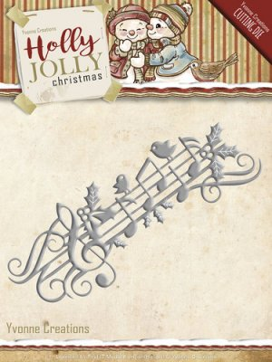 Yvonne Creations Holly Jolly Music Border