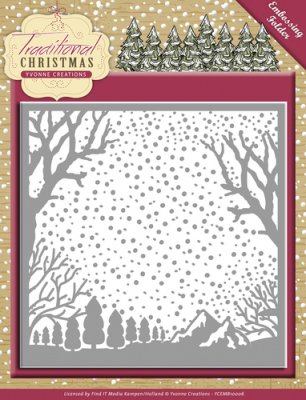 Yvonne Design Embossingfolder Traditional Christmas